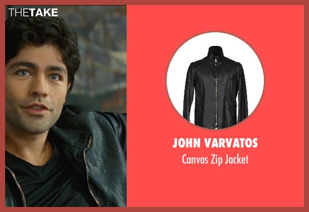 John Varvatos black jacket from Entourage seen with Adrian Grenier (Vincent Chase)