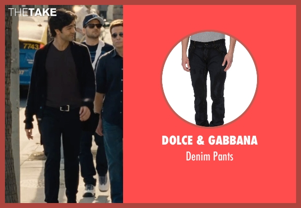 Dolce & Gabbana black pants from Entourage seen with Adrian Grenier (Vincent Chase)