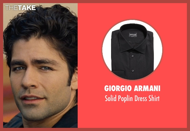 Giorgio Armani black shirt from Entourage seen with Adrian Grenier (Vincent Chase)