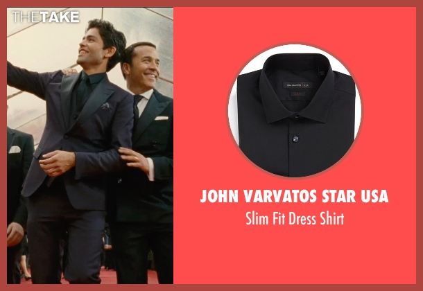 John Varvatos Star USA black shirt from Entourage seen with Adrian Grenier (Vincent Chase)