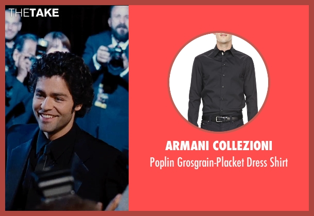 Armani Collezioni	 black shirt from Entourage seen with Adrian Grenier (Vincent Chase)