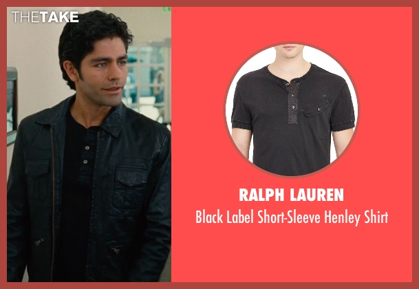 Ralph Lauren black shirt from Entourage seen with Adrian Grenier (Vincent Chase)