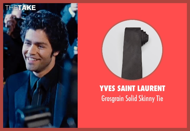 Yves Saint Laurent black tie from Entourage seen with Adrian Grenier (Vincent Chase)