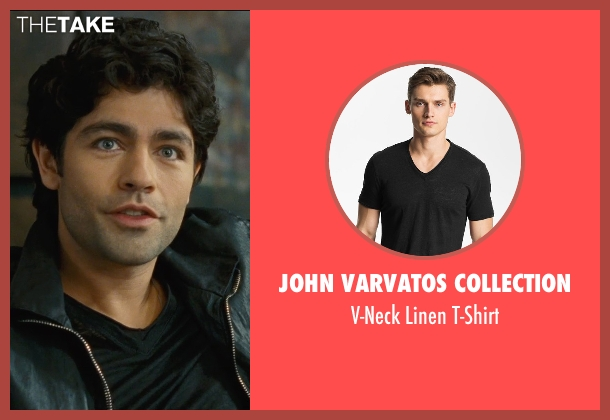 John Varvatos Collection black t-shirt from Entourage seen with Adrian Grenier (Vincent Chase)