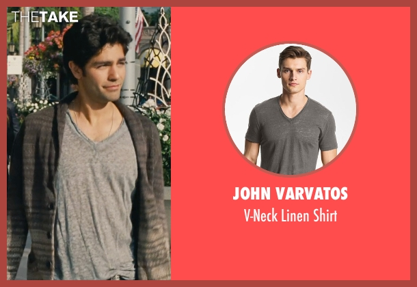 John Varvatos gray shirt from Entourage seen with Adrian Grenier (Vincent Chase)