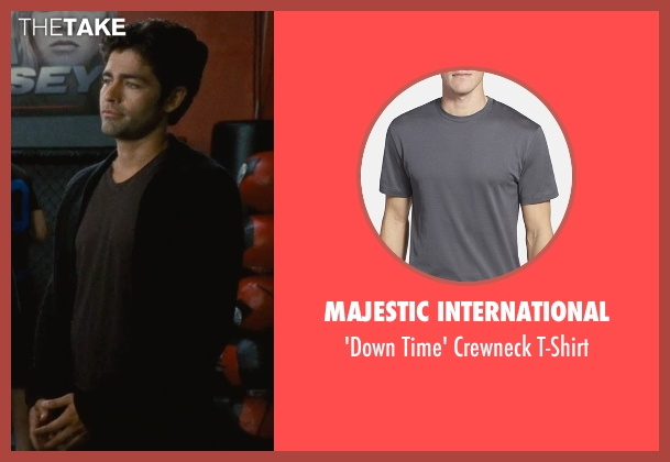 Majestic International gray t-shirt from Entourage seen with Adrian Grenier (Vincent Chase)