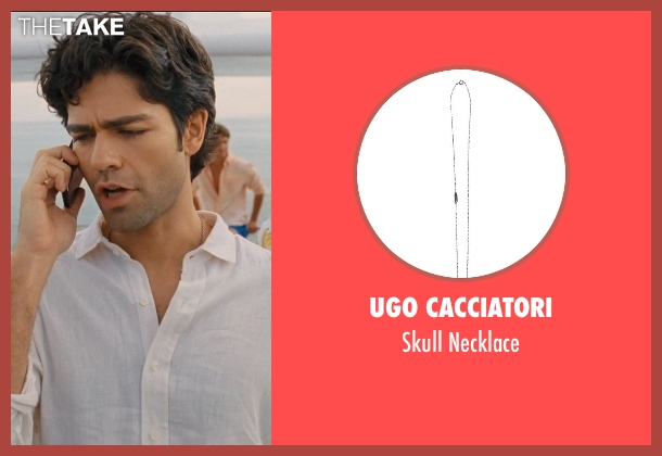 Ugo Cacciatori silver necklace from Entourage seen with Adrian Grenier (Vincent Chase)