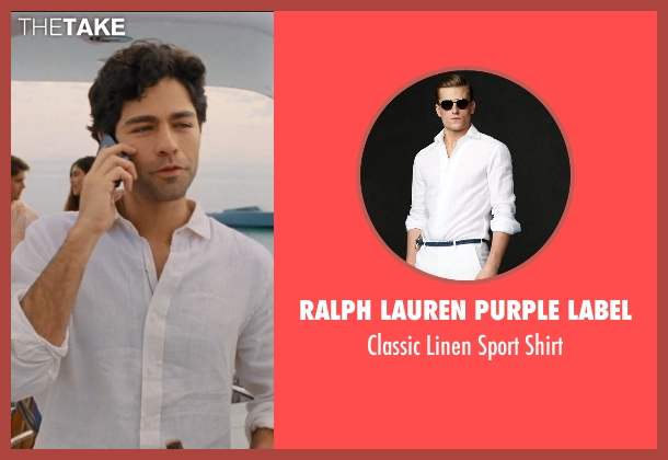 Ralph Lauren Purple Label white shirt from Entourage seen with Adrian Grenier (Vincent Chase)