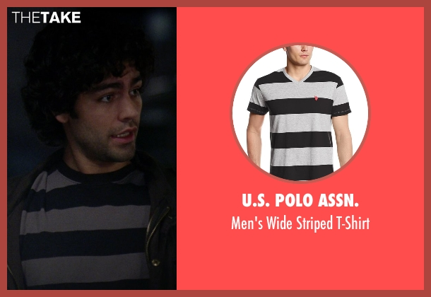 U.S. Polo Assn. black t-shirt from The Devil Wears Prada seen with Adrian Grenier (Nate)