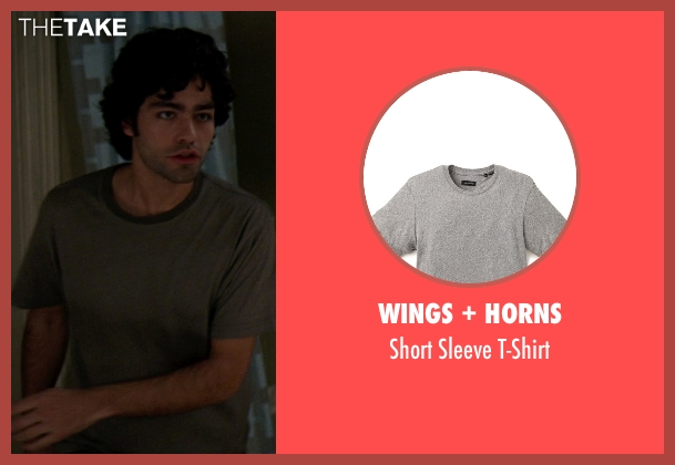 Wings + Horns gray t-shirt from The Devil Wears Prada seen with Adrian Grenier (Nate)