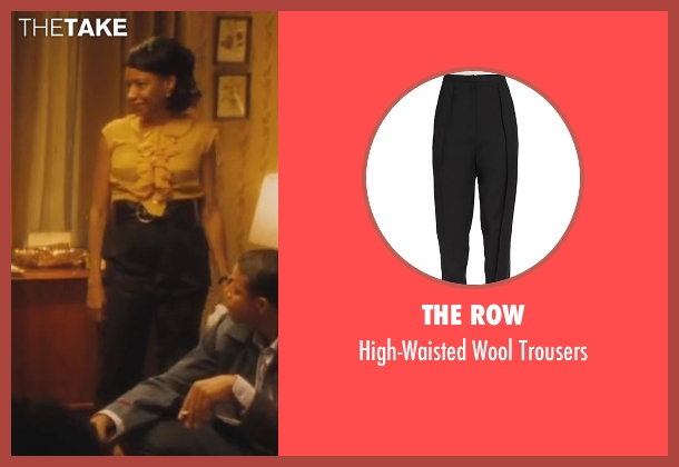 The Row black trousers from Lee Daniels' The Butler seen with Adriane Lenox (Gina)