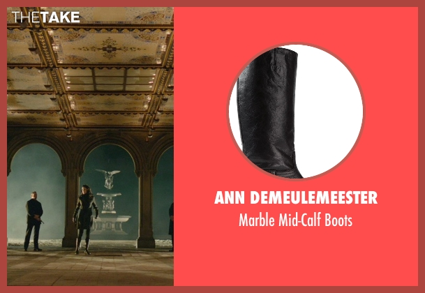 Ann Demeulemeester black boots from John Wick seen with Adrianne Palicki (Ms. Perkins)