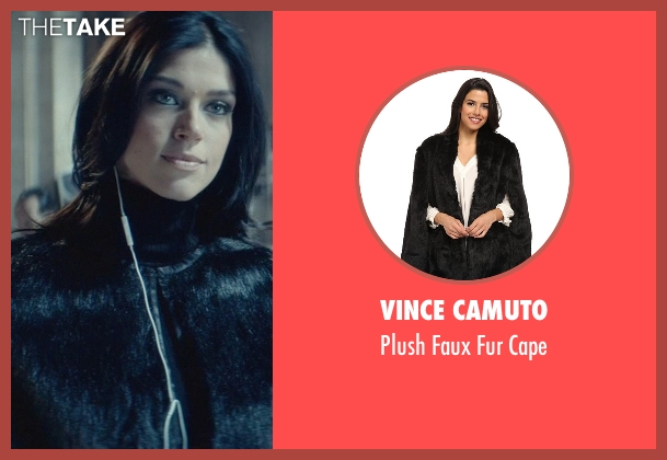 Vince Camuto black cape from John Wick seen with Adrianne Palicki (Ms. Perkins)