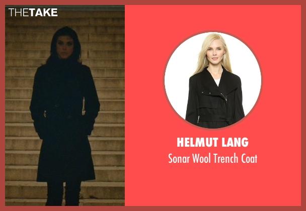 Helmut Lang black coat from John Wick seen with Adrianne Palicki (Jenny)