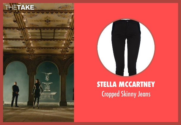 Stella Mccartney black jeans from John Wick seen with Adrianne Palicki (Ms. Perkins)