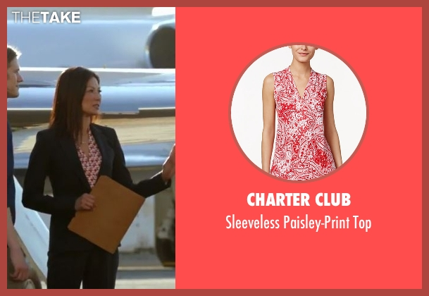 Charter Club red top from MacGyver seen with Agent Croix (Michelle Krusiec)