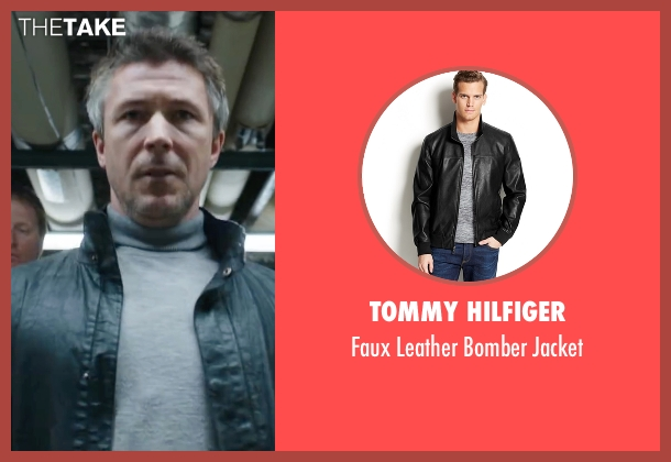 Tommy Hilfiger black jacket from Maze Runner: The Scorch Trials seen with Aidan Gillen (Janson)