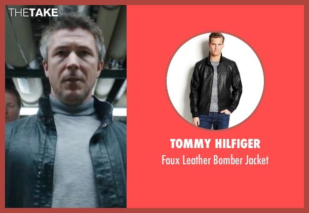 Tommy Hilfiger black jacket from Maze Runner: The Scorch Trials seen with Aidan Gillen (Janson)