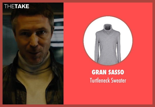 Gran Sasso gray sweater from Maze Runner: The Scorch Trials seen with Aidan Gillen (Janson)