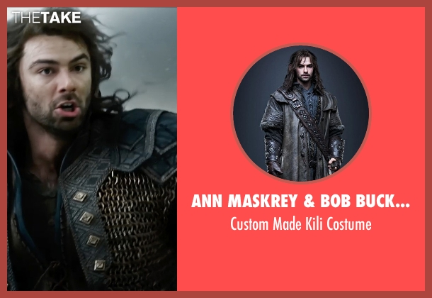Ann Maskrey & Bob Buck (Costume Designer) costume from The Hobbit: The Battle of The Five Armies seen with Aidan Turner (Kili)