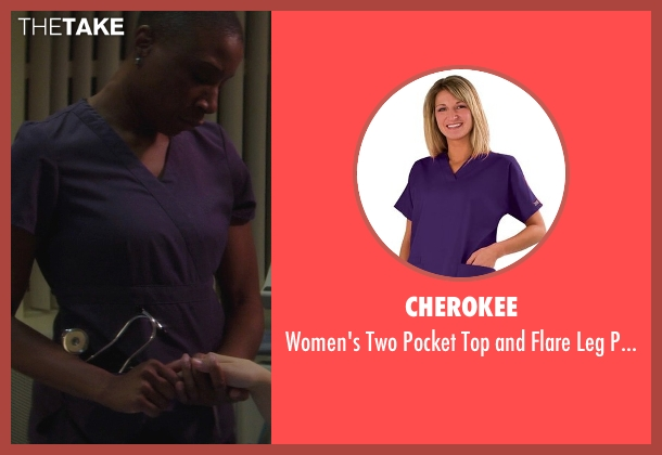 Cherokee purple set from If I Stay seen with Aisha Hinds (Nurse Ramirez)