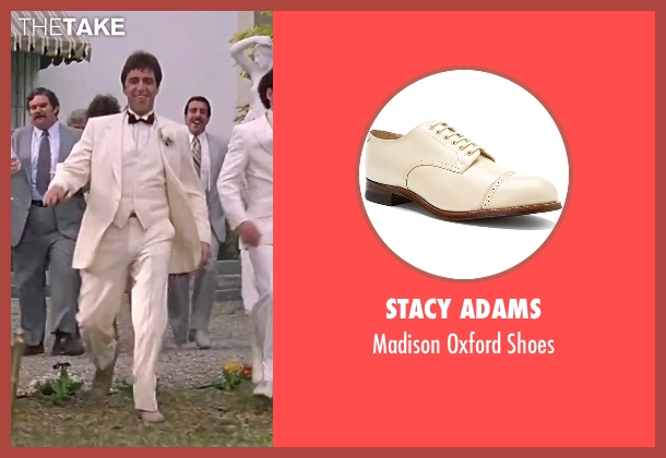 Stacy Adams beige shoes from Scarface seen with Al Pacino (Tony Montana)