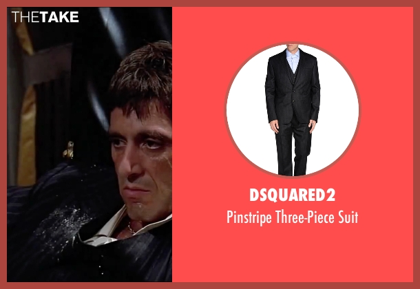 DSquared2 black suit from Scarface seen with Al Pacino (Tony Montana)