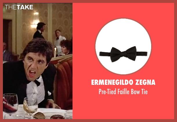 Ermenegildo Zegna black tie from Scarface seen with Al Pacino (Tony Montana)