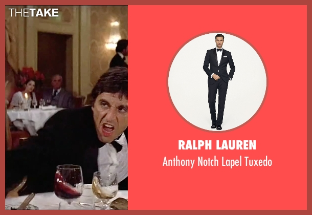Ralph Lauren black tuxedo from Scarface seen with Al Pacino (Tony Montana)