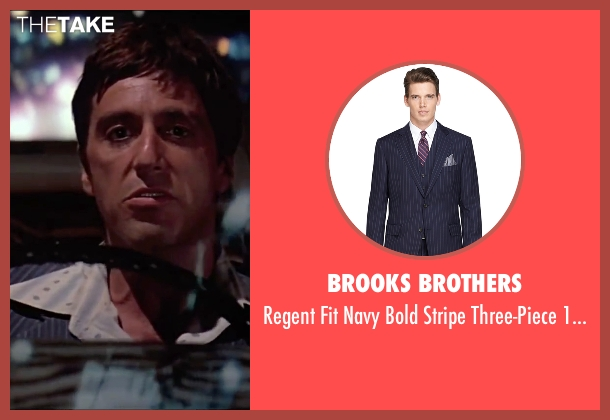 Brooks Brothers blue suit from Scarface seen with Al Pacino (Tony Montana)