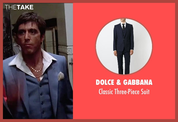 Dolce & Gabbana blue suit from Scarface seen with Al Pacino (Tony Montana)
