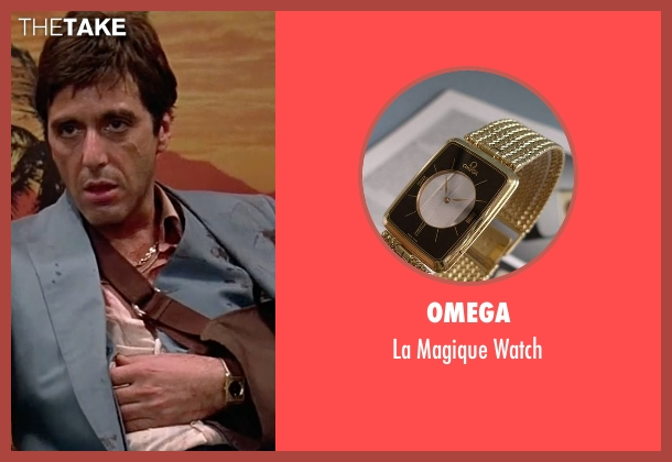 Omega gold watch from Scarface seen with Al Pacino (Tony Montana)