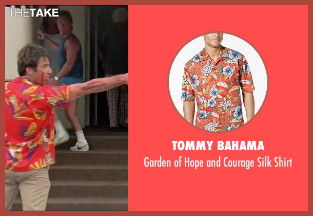 Tommy Bahama red shirt from Scarface seen with Al Pacino (Tony Montana)