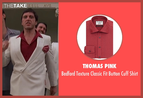 Thomas Pink red shirt from Scarface seen with Al Pacino (Tony Montana)