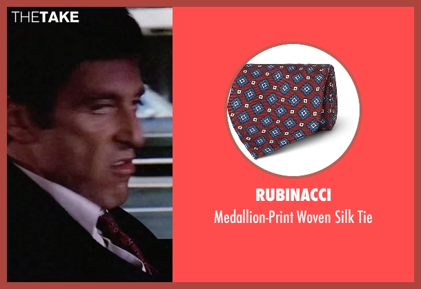 Rubinacci red tie from Scarface seen with Al Pacino (Tony Montana)