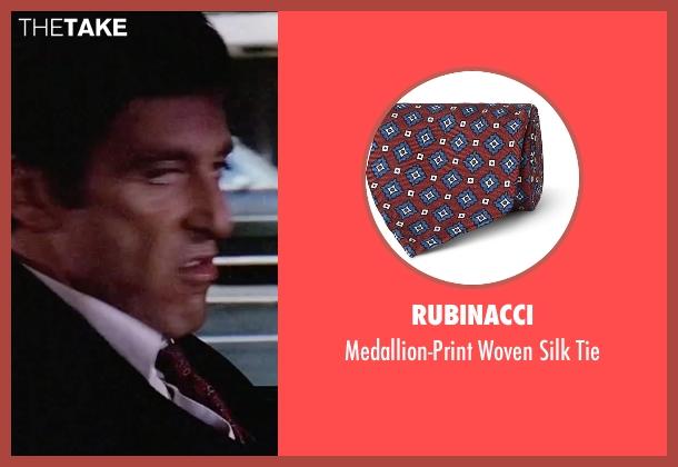 Rubinacci  red tie from Scarface seen with Al Pacino (Tony Montana)