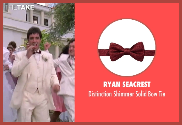 Ryan Seacrest red tie from Scarface seen with Al Pacino (Tony Montana)