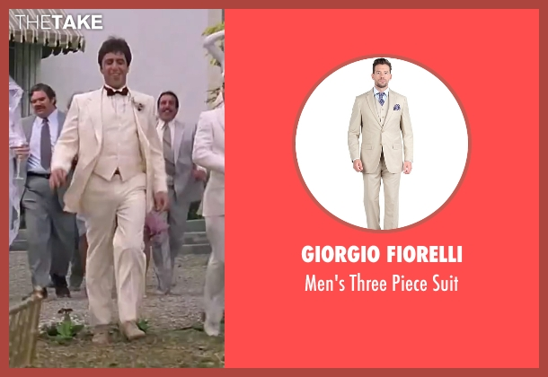 Giorgio Fiorelli suit from Scarface seen with Al Pacino (Tony Montana)