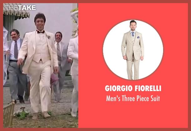 Giorgio Fiorelli  suit from Scarface seen with Al Pacino (Tony Montana)