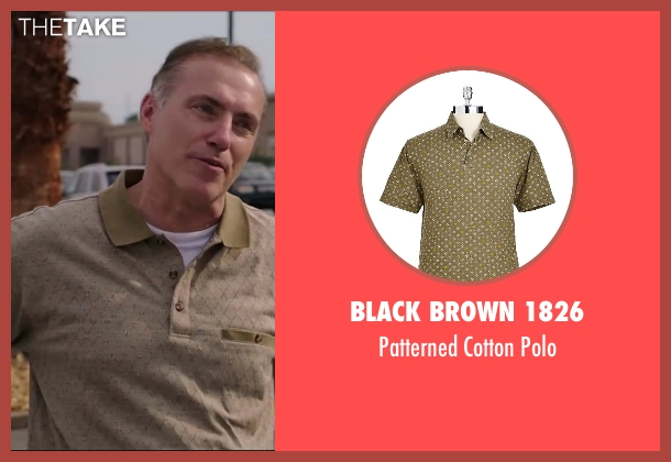 BLACK BROWN 1826 brown polo from Million Dollar Arm seen with Al Sapienza (Pete)