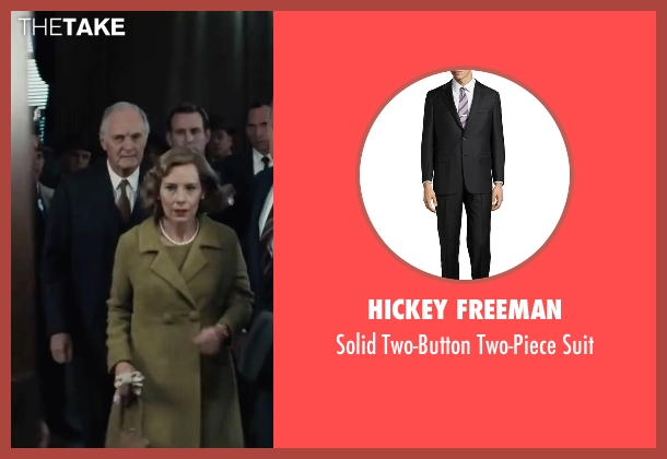 Hickey Freeman black suit from Bridge of Spies seen with Alan Alda (Thomas Watters)