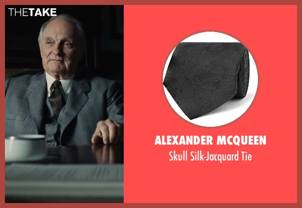 Alexander McQueen black tie from Bridge of Spies seen with Alan Alda (Thomas Watters)