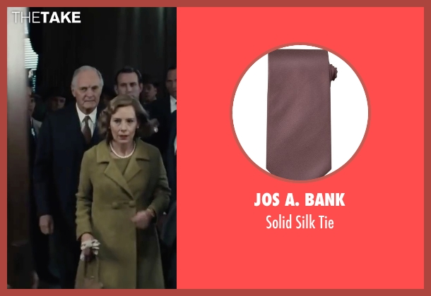 Jos A. Bank brown tie from Bridge of Spies seen with Alan Alda (Thomas Watters)