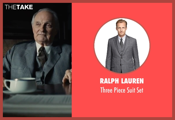 Ralph Lauren gray set from Bridge of Spies seen with Alan Alda (Thomas Watters)