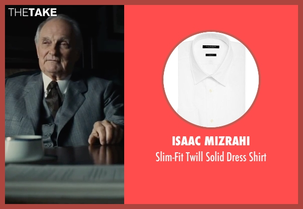 Isaac Mizrahi white shirt from Bridge of Spies seen with Alan Alda (Thomas Watters)