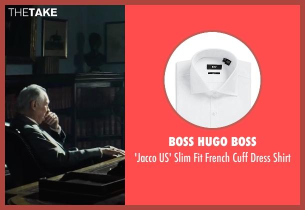 Boss Hugo Boss white shirt from Bridge of Spies seen with Alan Alda (Thomas Watters)