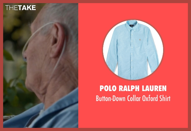 Polo Ralph Lauren blue shirt from The Longest Ride seen with Alan Alda (Ira Levinson)