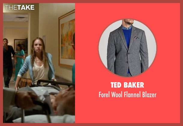 Ted Baker gray blazer from The Longest Ride seen with Alan Alda (Ira Levinson)