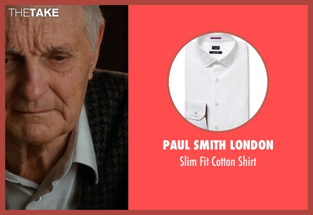 Paul Smith London white shirt from The Longest Ride seen with Alan Alda (Ira Levinson)