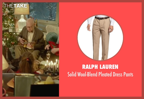 Ralph Lauren beige pants from Love the Coopers seen with Alan Arkin (Bucky)